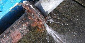Pipe Burst Spraying Out Gray Water